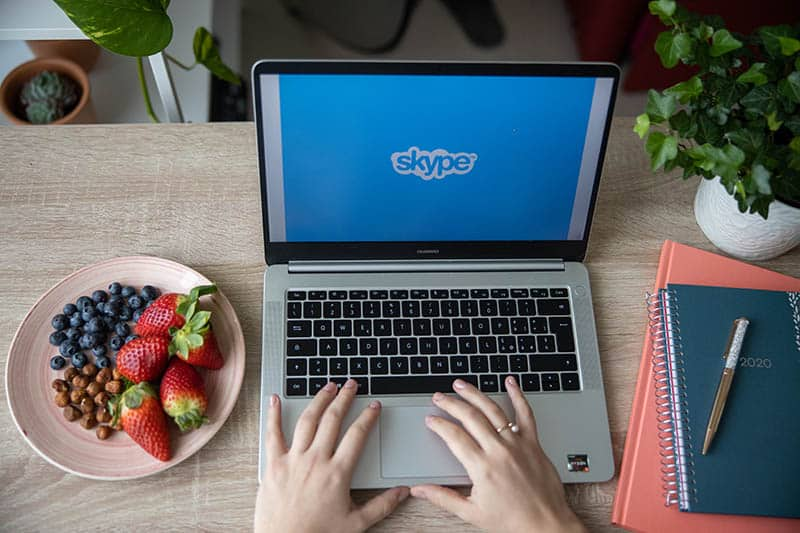 skype for online virtual baby shower