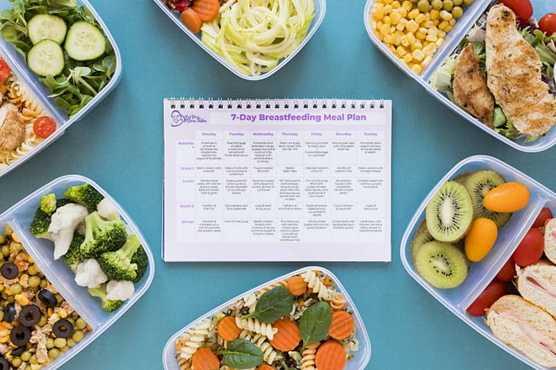 Breastfeeding Meal Plan printable