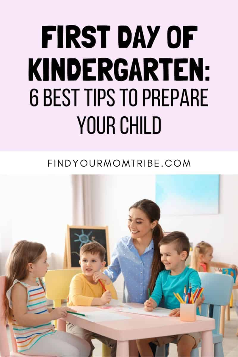 First Day Of Kindergarten Pinterest