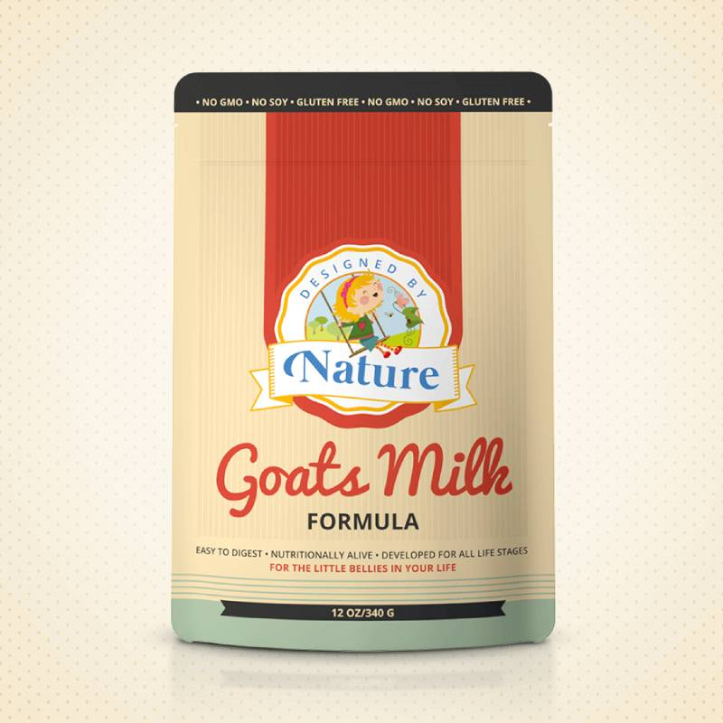 Designed by nature goat milk baby formula