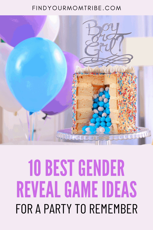 Pinterest gender reveal games ideas