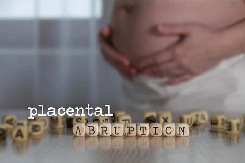 baby in distress Placental abruption