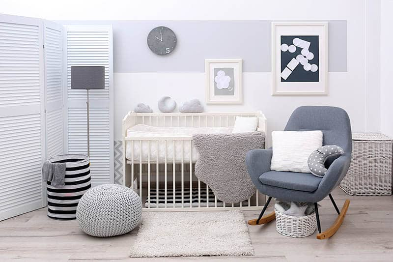 nursery room with rocking chair for nursery