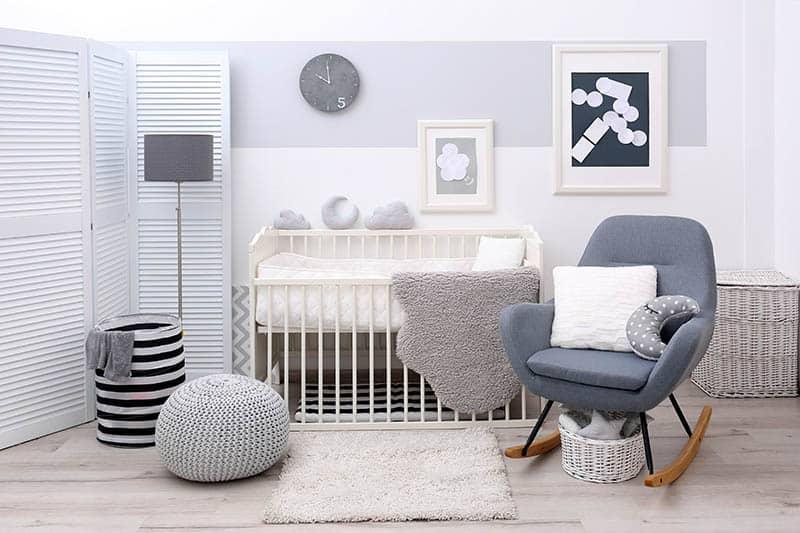 nursery room with rocking chair for nursery