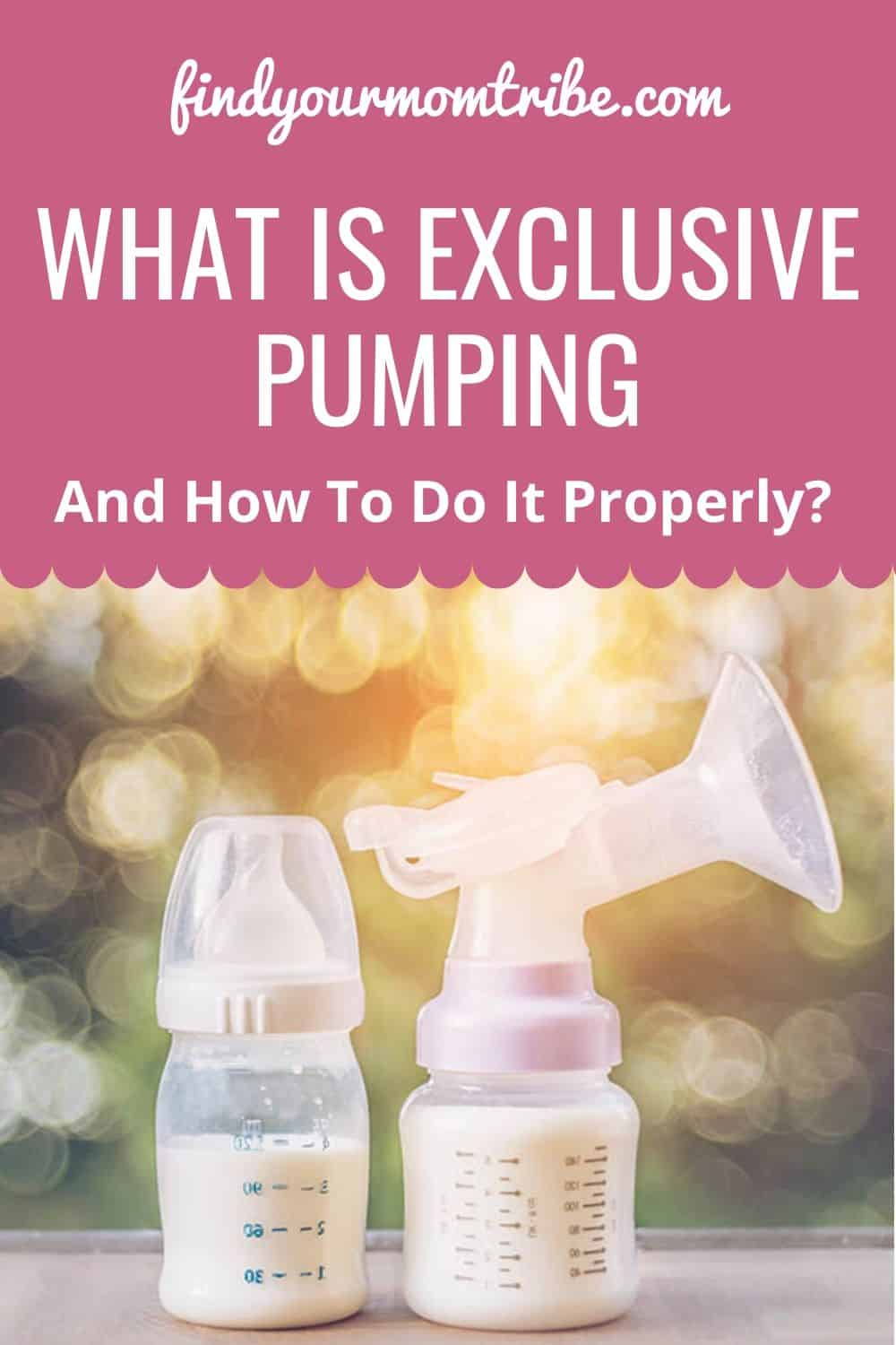 What Is Exclusive Pumping