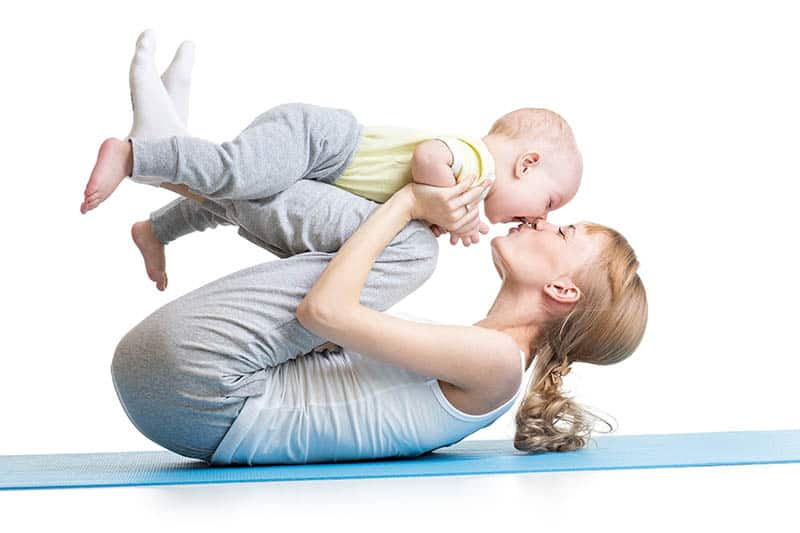 The process of baby yoga