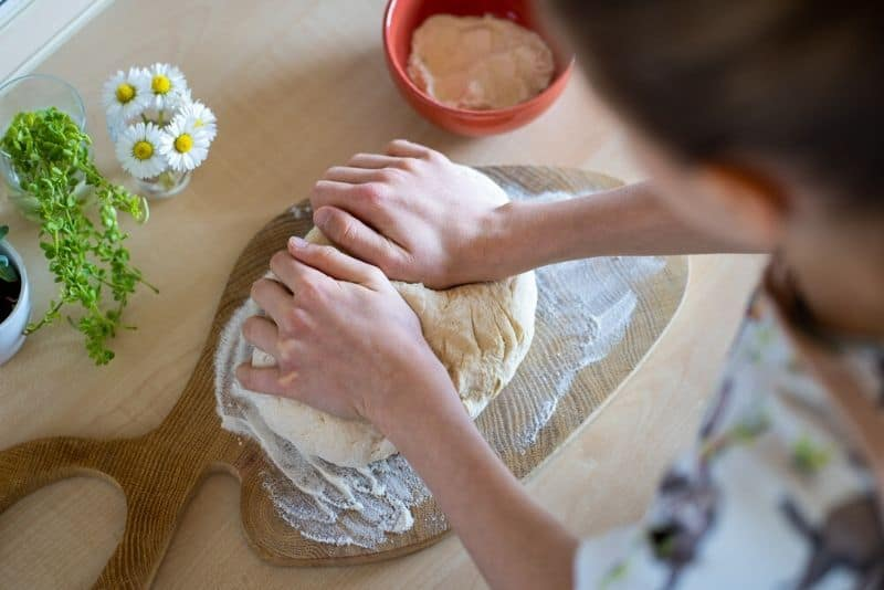 Kneading Irish Soda Bread Dough