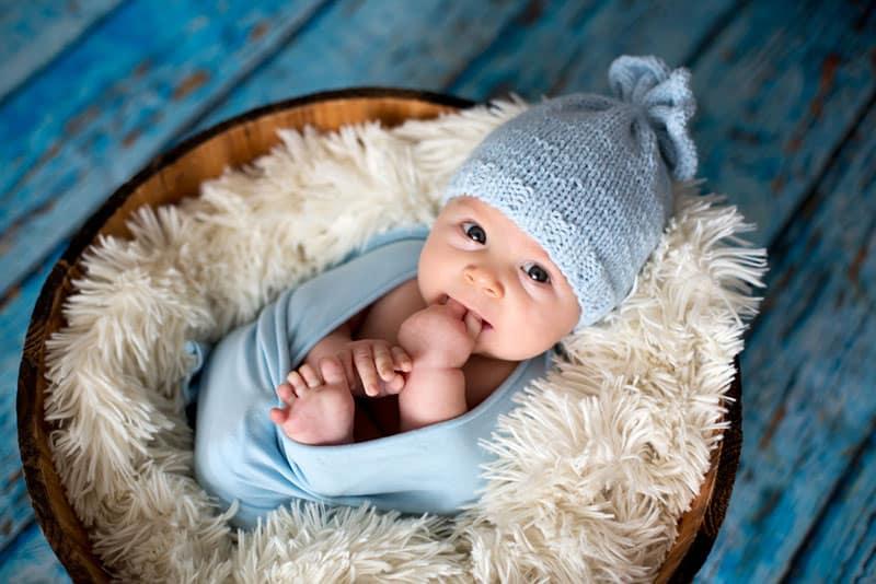 adorable baby boy looking at camera