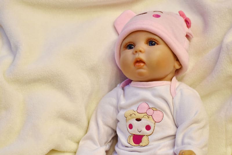 portrait of baby doll