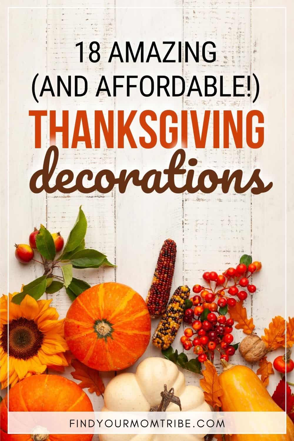 18 Simple And Easy Thanksgiving Decorations Pinterest