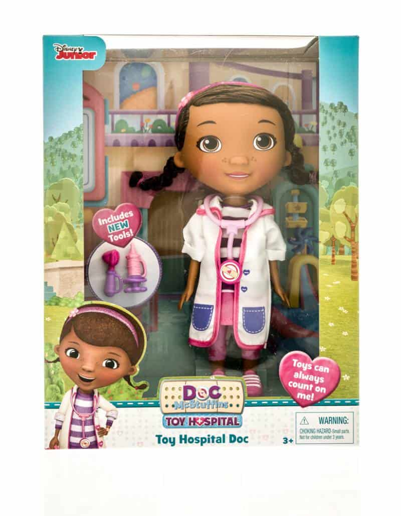 Package of Disney Junior Doc Mcstuffins on an isolated background