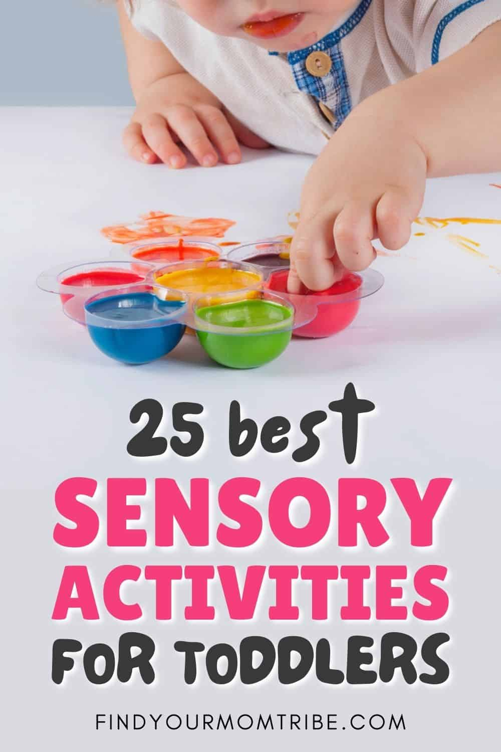 25 Best Sensory Activities For Toddlers Pinterest