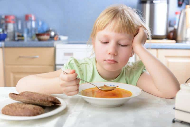 Kid doesn't want to eat soup