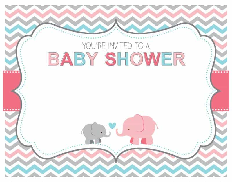 A vector illustration of a cute gender neutral baby shower invitation card