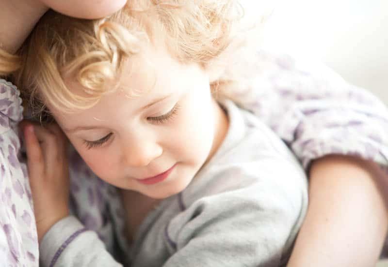 hugging kid