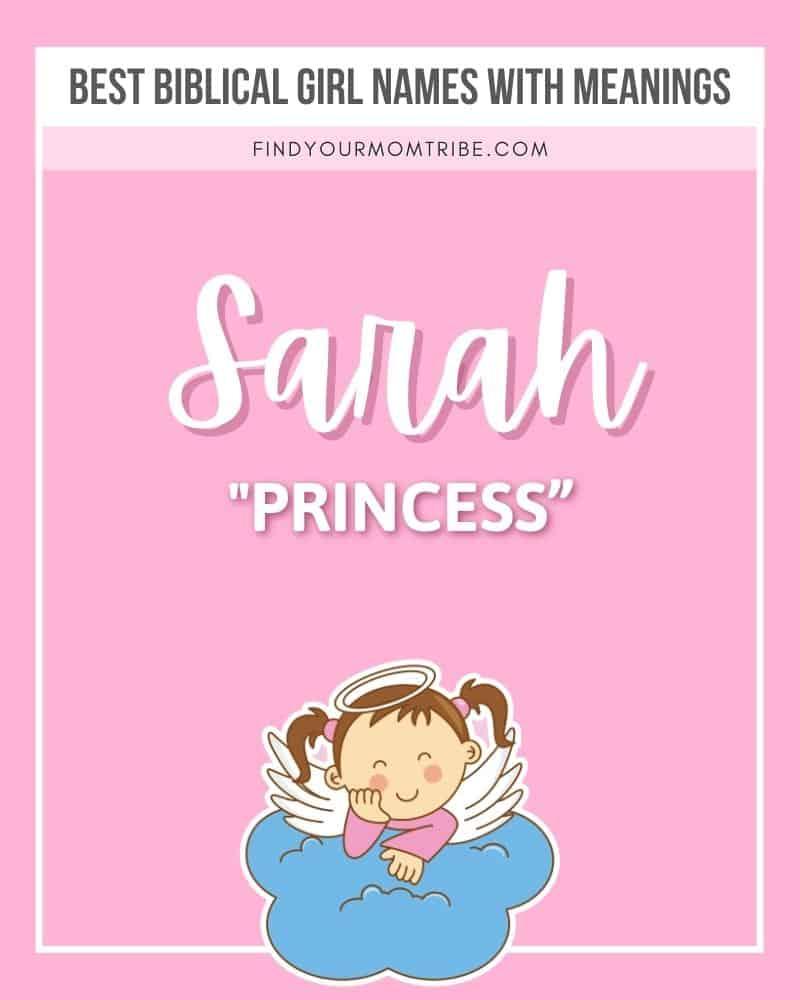 female name Sarah illustrated