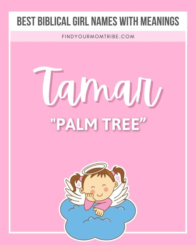 Illustration and meaning of female name Tamar