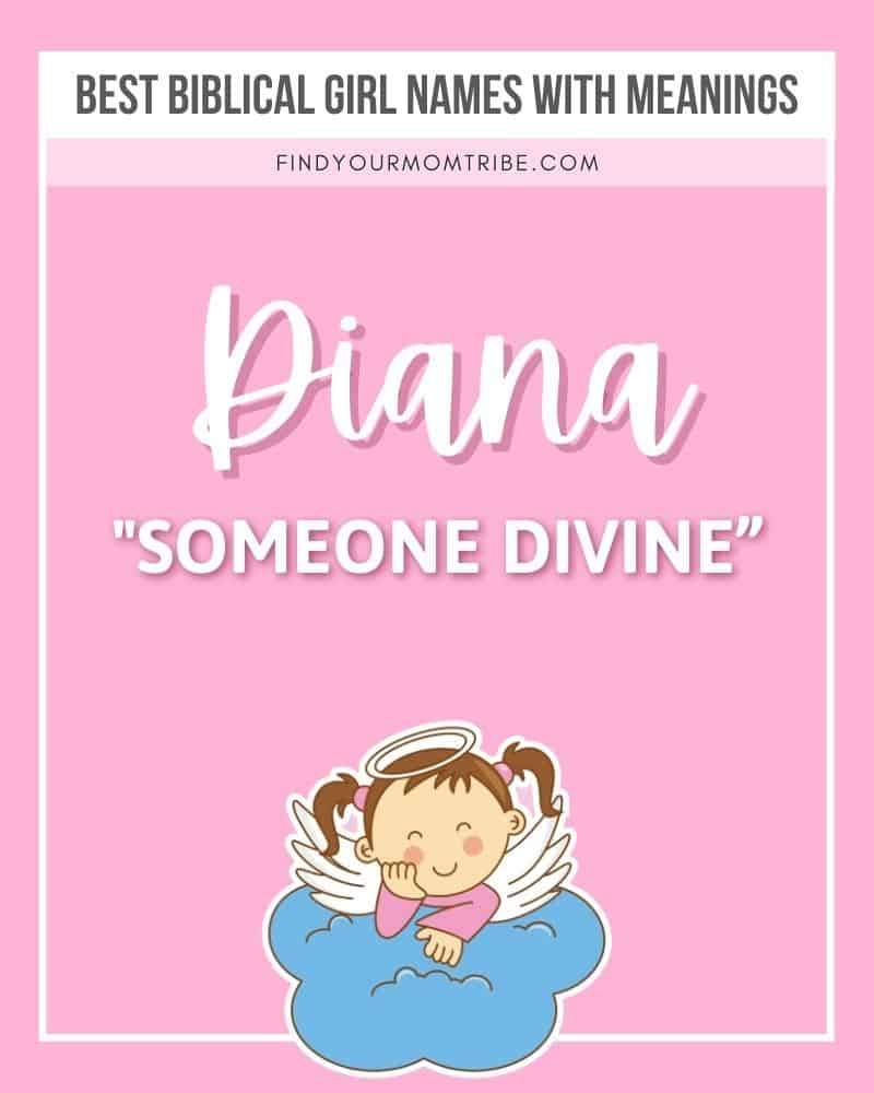 illustrated biblical name Diana with meaning