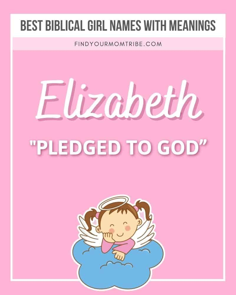The name Elizabeth illustrated with meaning