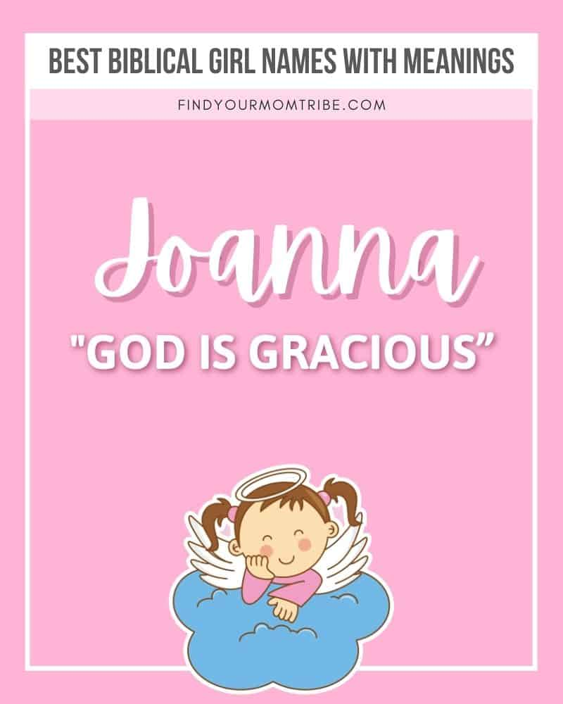 Illustrated biblical name Joanna with meaning