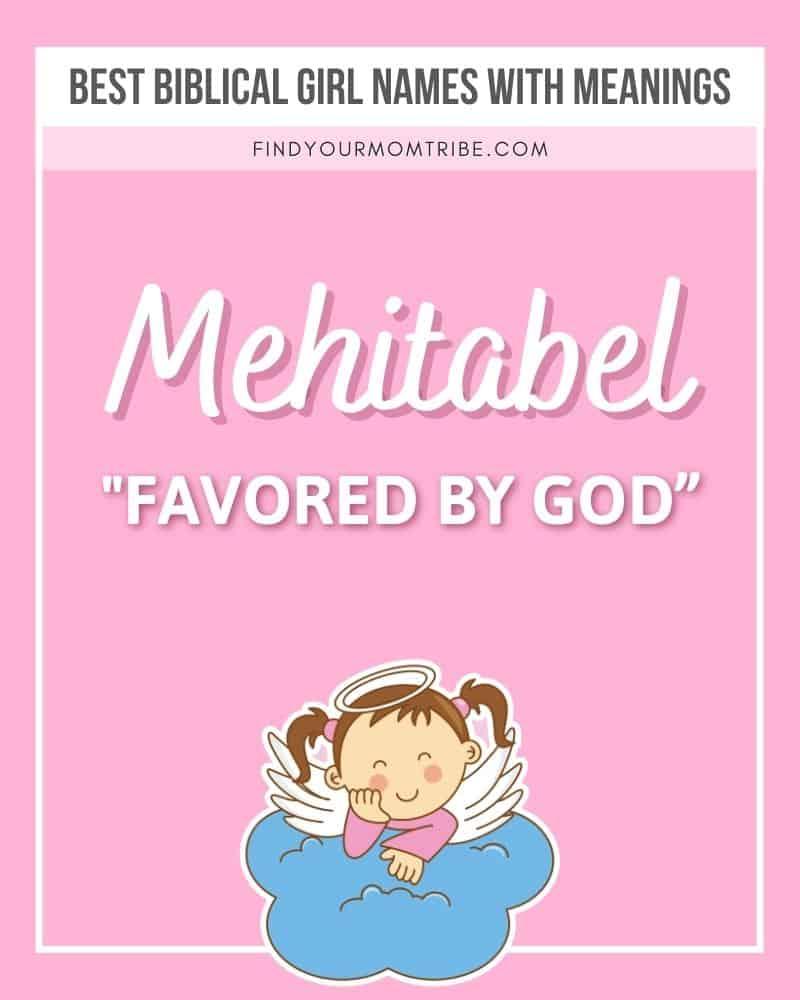 Mehitabel girl name, illustrated