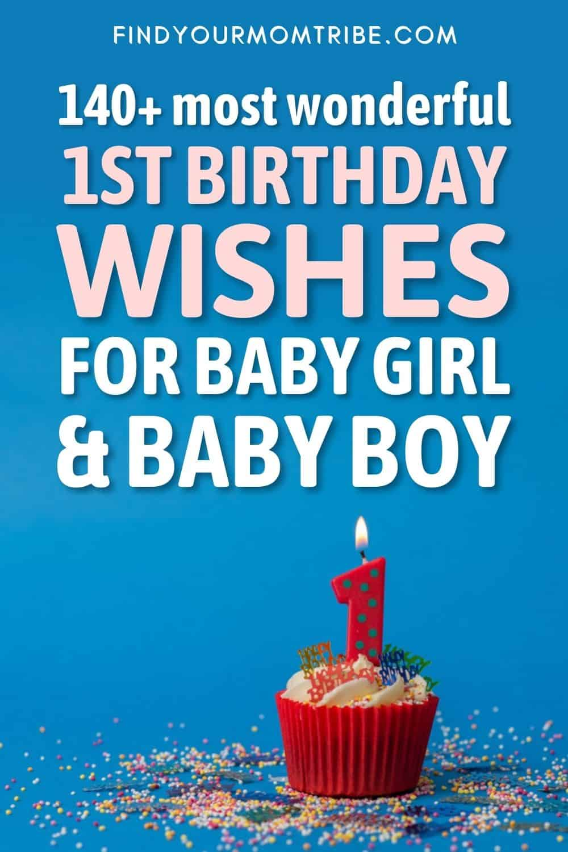 140+ Most Wonderful 1st Birthday Wishes For Baby Girl & Baby Boy Pinterest