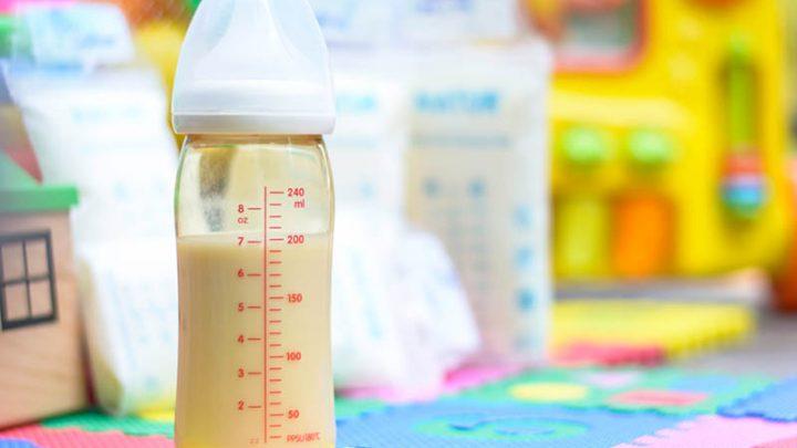 bottle of breast milk