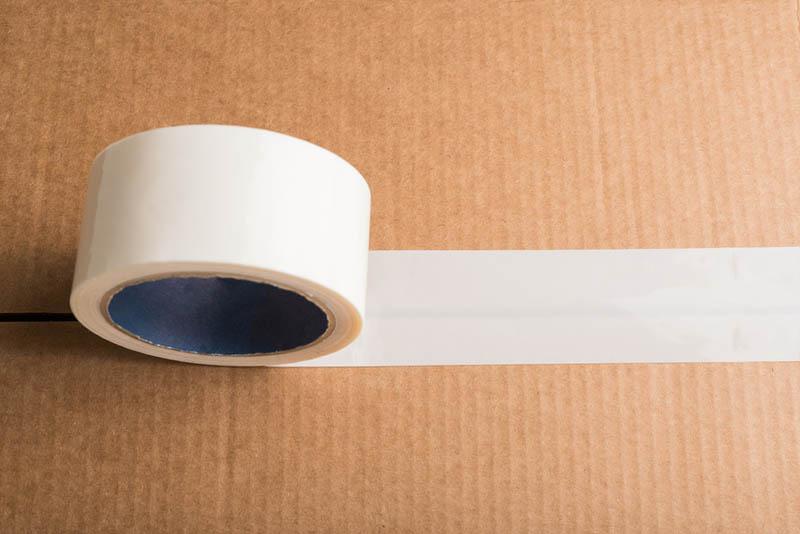 cardboard box with adhesive tape