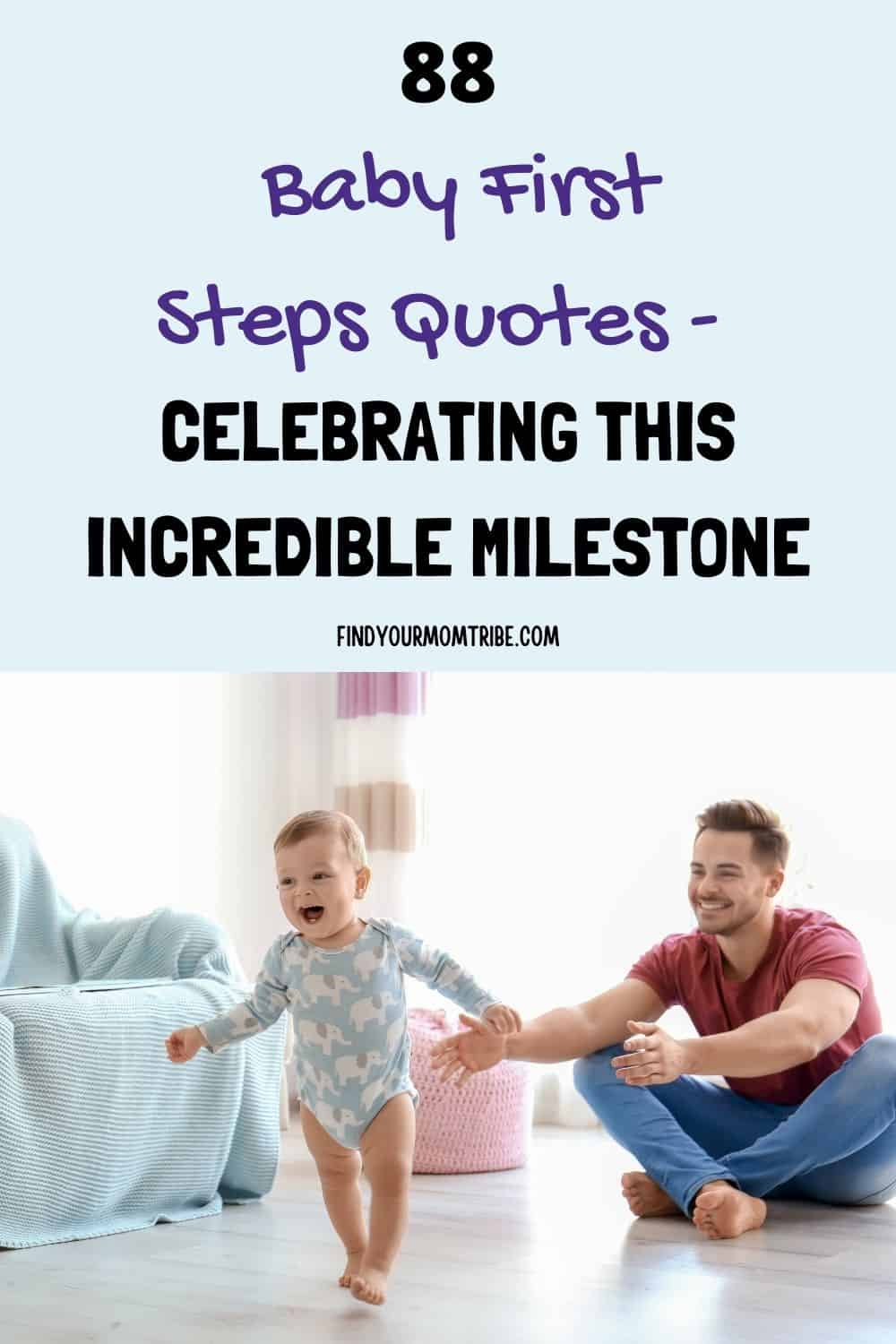 Pinterest baby first steps quotes