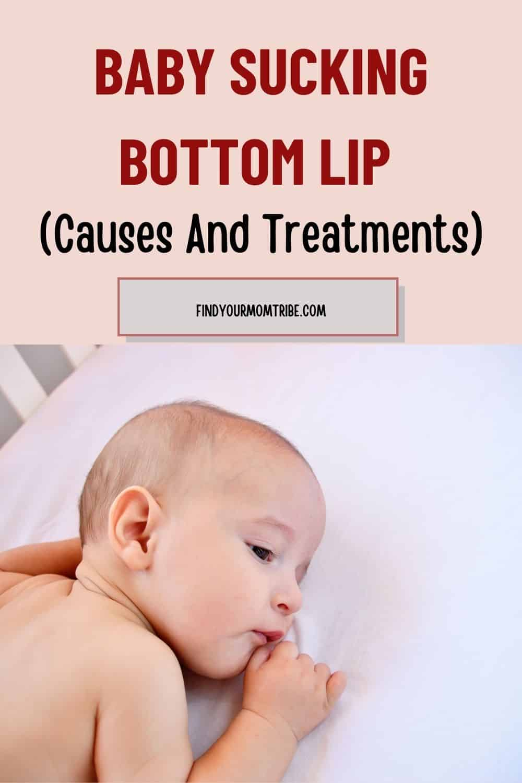 Pinterest baby sucking bottom lip
