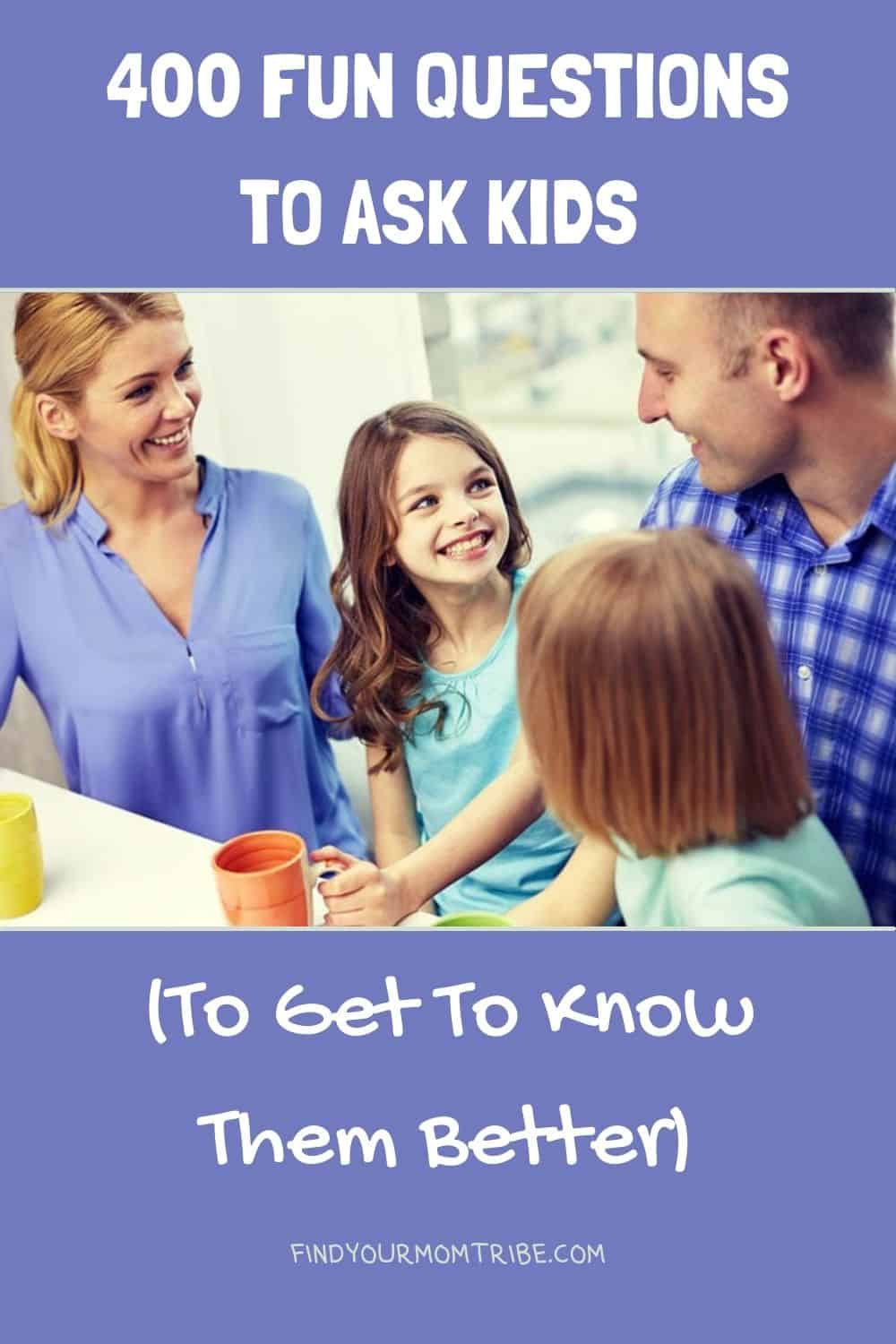 Pinterest fun questions to ask kids