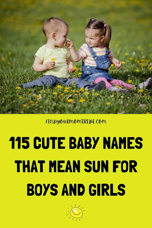 Pinterest names that mean sun