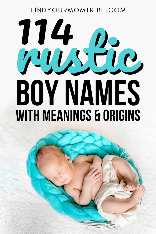 114 Rustic Boy Names Pinterest
