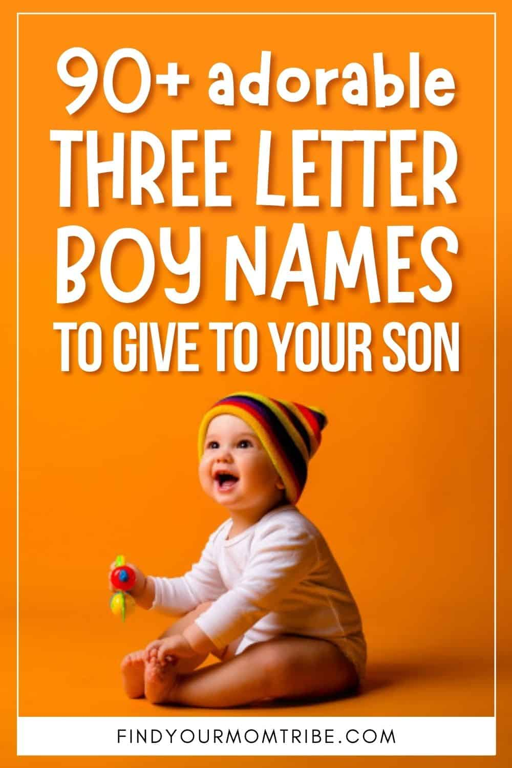 90+ Adorable Three Letter Boy Names To Give To Your Son Pinterest