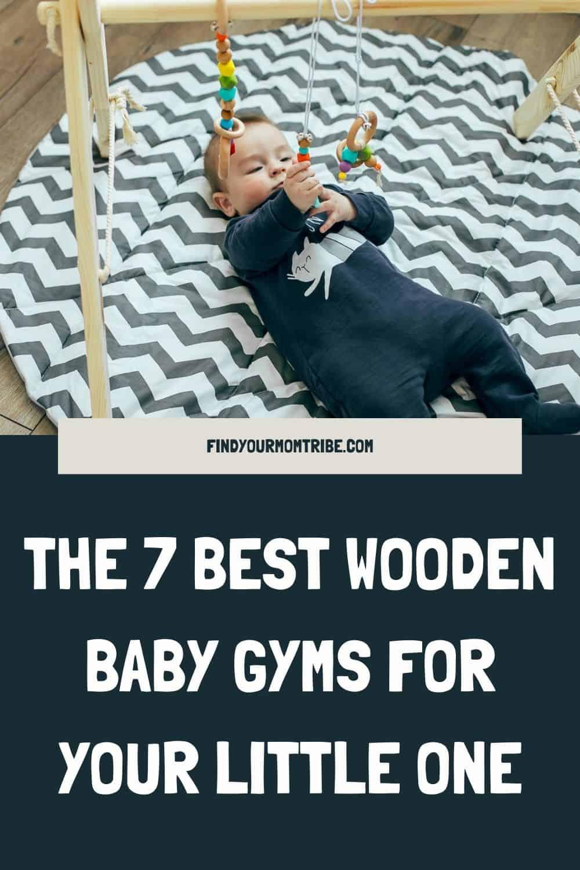 Pinterest wooden baby gym