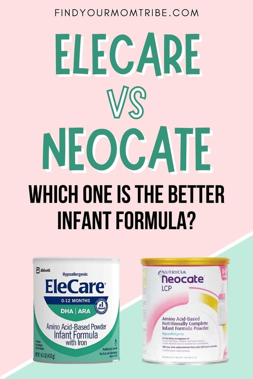 Elecare VS Neocate formula Pinterest