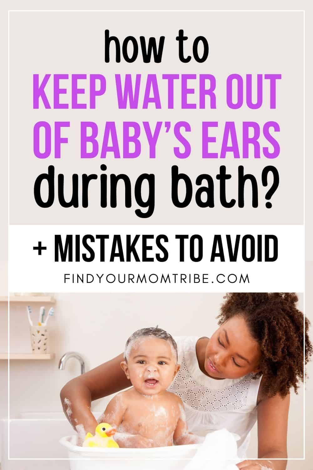 How To Keep Water Out Of Baby's Ears During Bath Pinterest