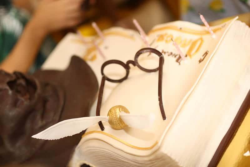 big book shape baby shower cake harry potter themed