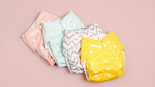 colorful reusable baby cloth panties