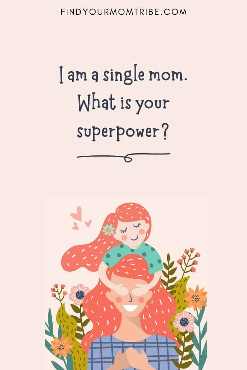 Single mother life quote