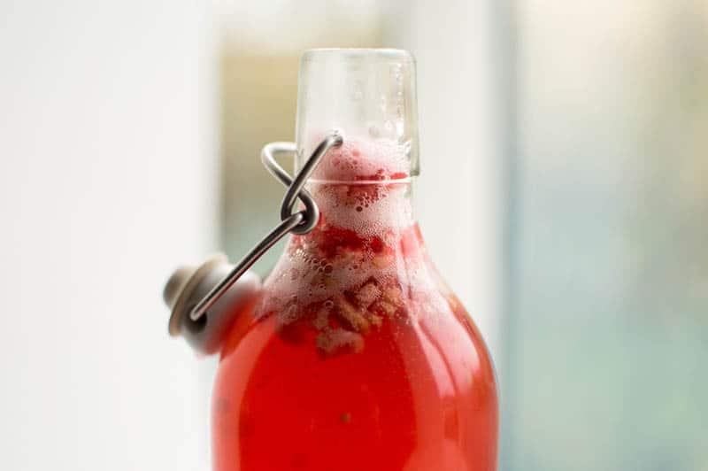 Bubbly Homemade Raspberry Kombucha
