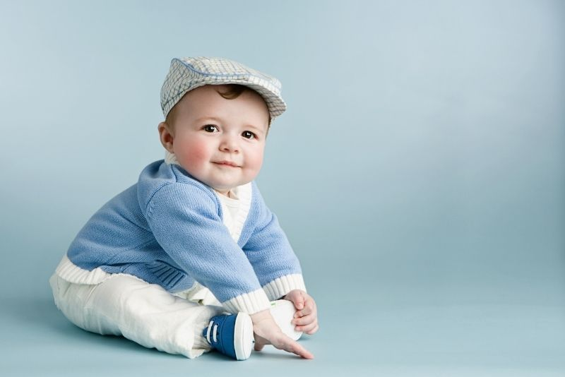 cute little boy with a hat