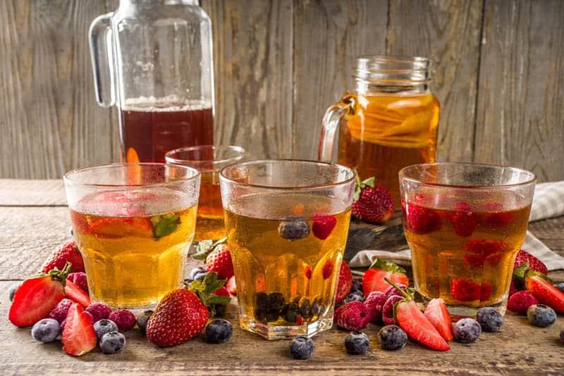 Sweet homamde fermented Kombucha drink