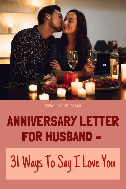 Pinterest anniversary letter for husband