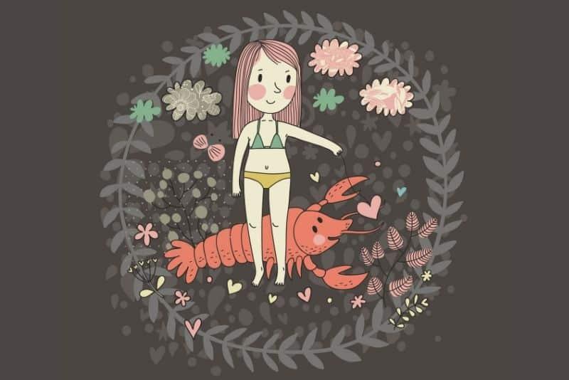 cancer zodiac sign cute illustration