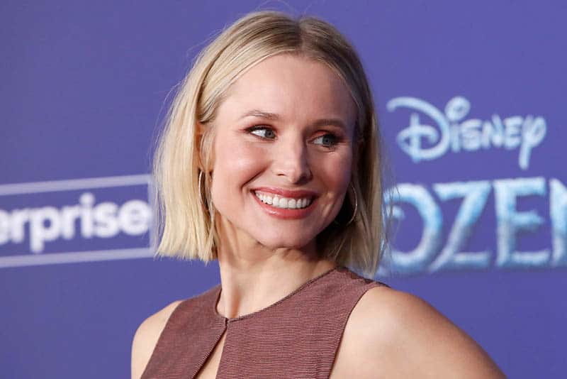 famous actress Kristen Bell smiling