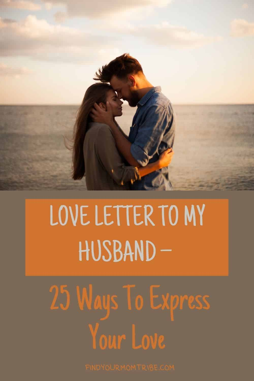 Pinterest letter to my husband