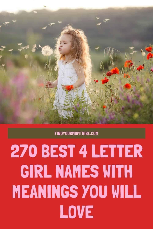 Pinterest 4 letter girl names