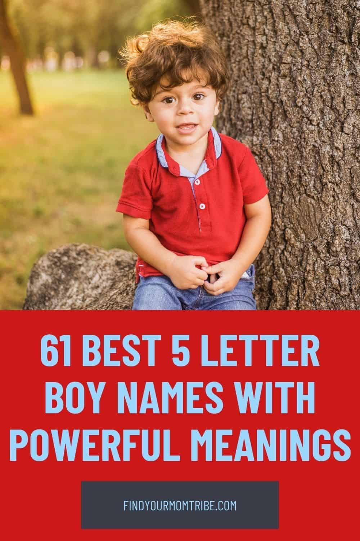 Pinterest 5 letter boy names