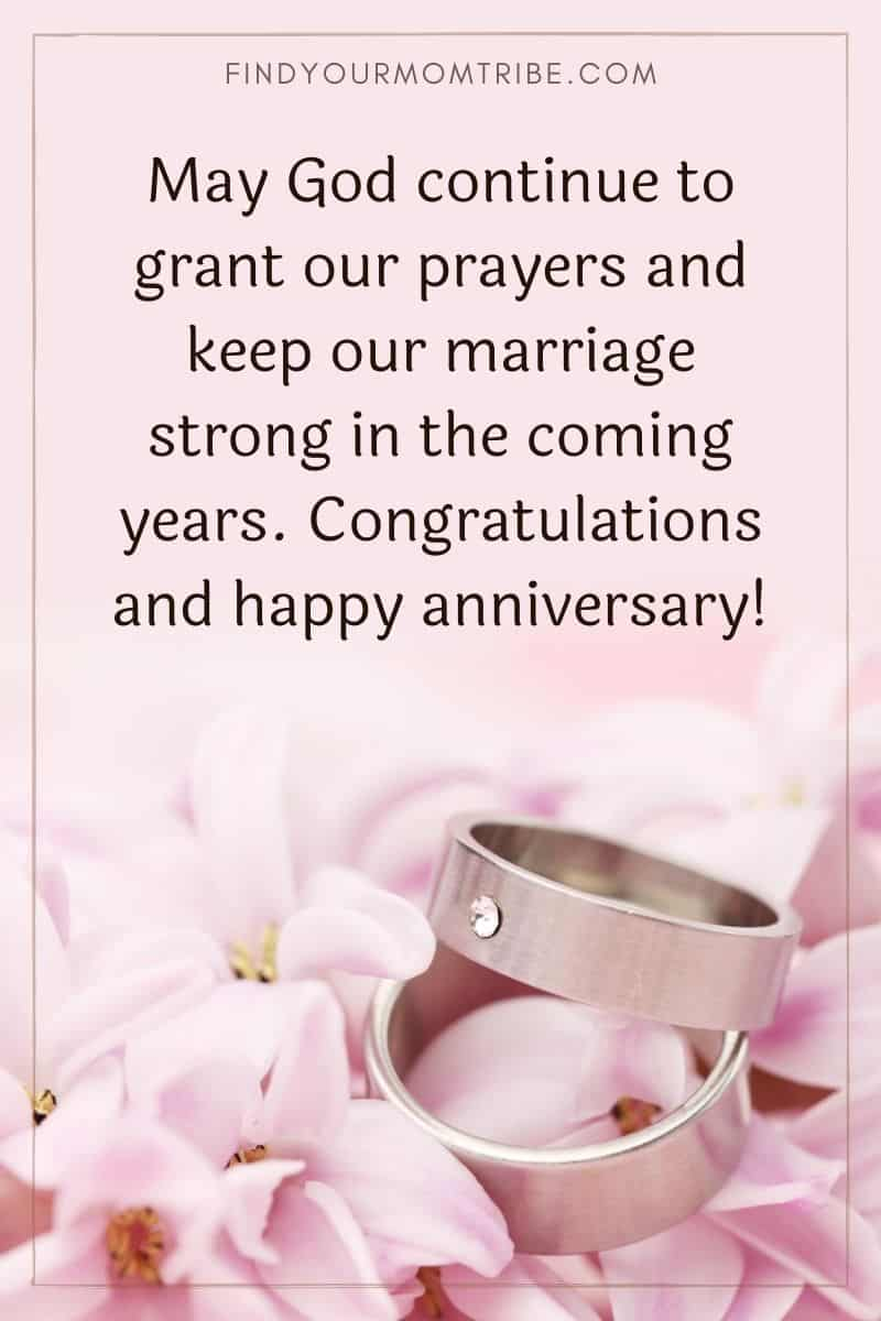 """""""May God continue to grant our prayers and keep our marriage strong in the coming years. Congratulations and happy anniversary!"""""""